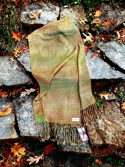 Autumn tones wide scarf