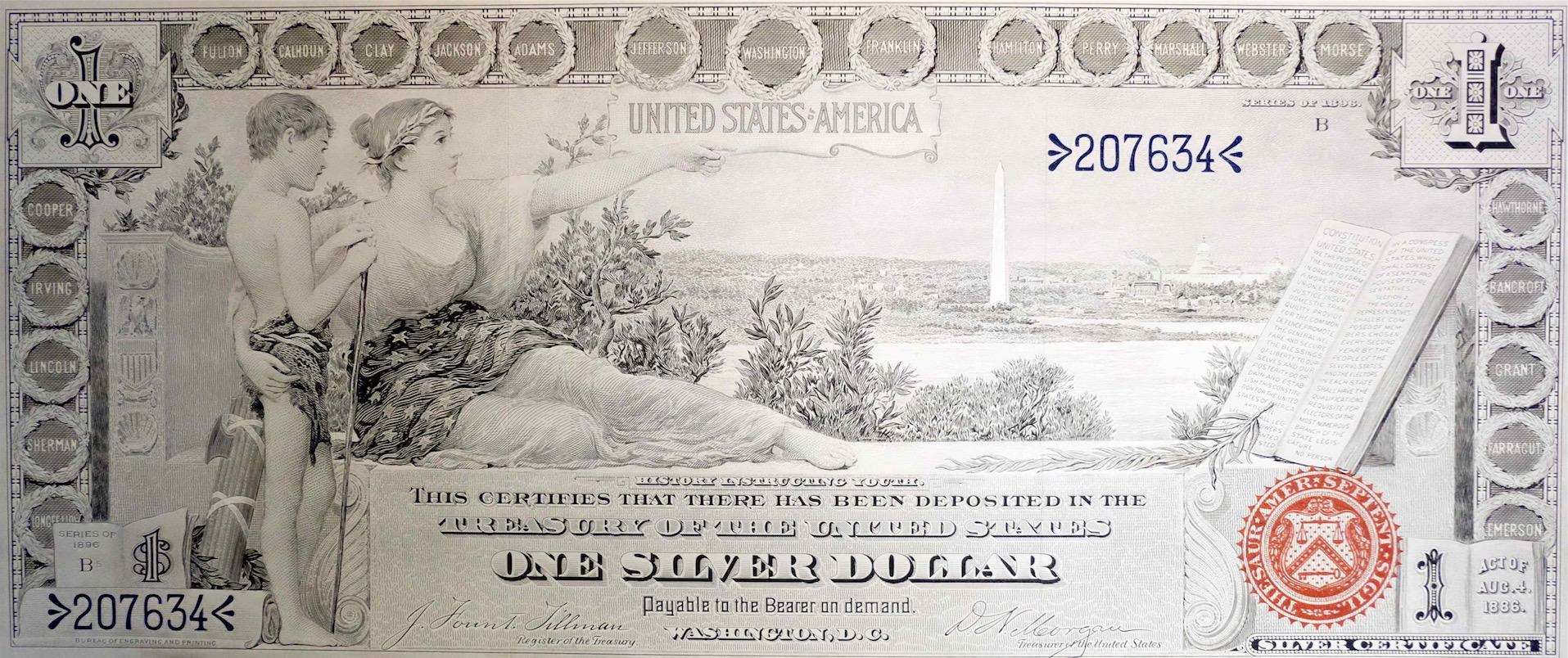 One Silver Dollar 1896