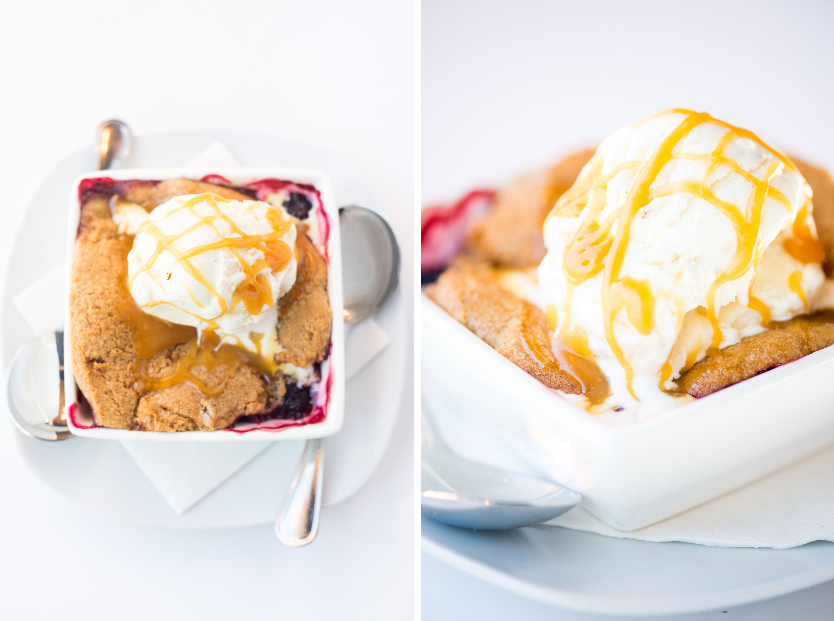 Berry Cobbler with Ice Cream Image