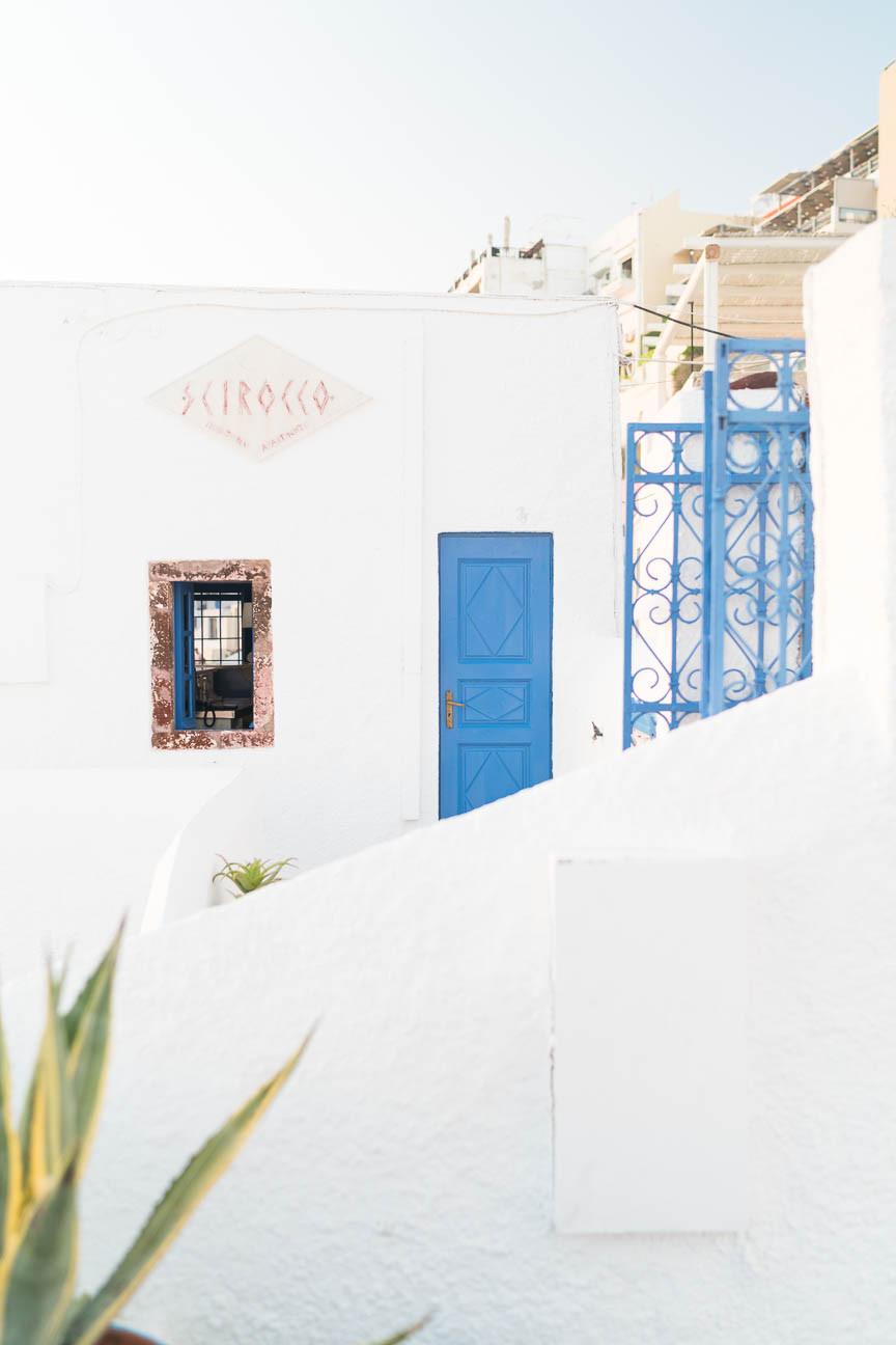 Reception at Hotel Scirocco in Fira, Greece