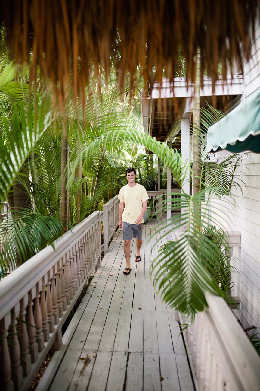 Ned walks around Eden House, Key West, FL