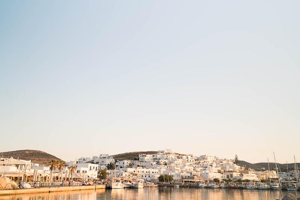 Harbor view on the Greek island of Paros