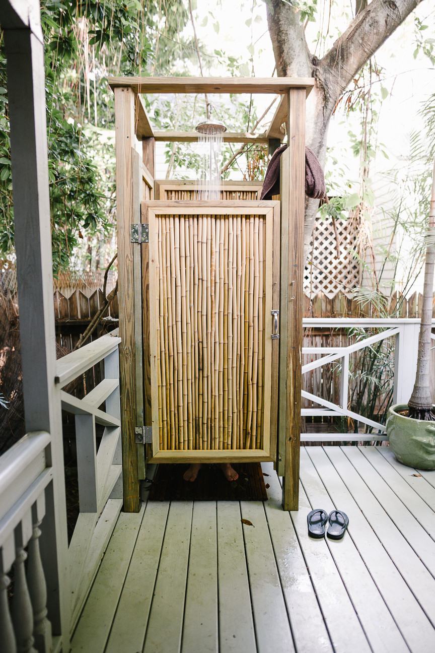 Outdoor shower at Eden House, Key West, FL