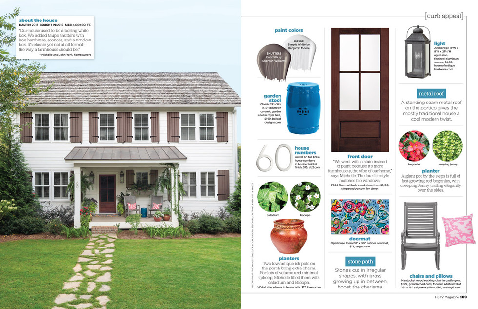 HGTV Magazine October Curb Appeal Article