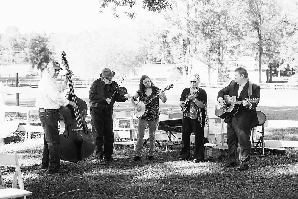 folk band playing wedding ceremony music