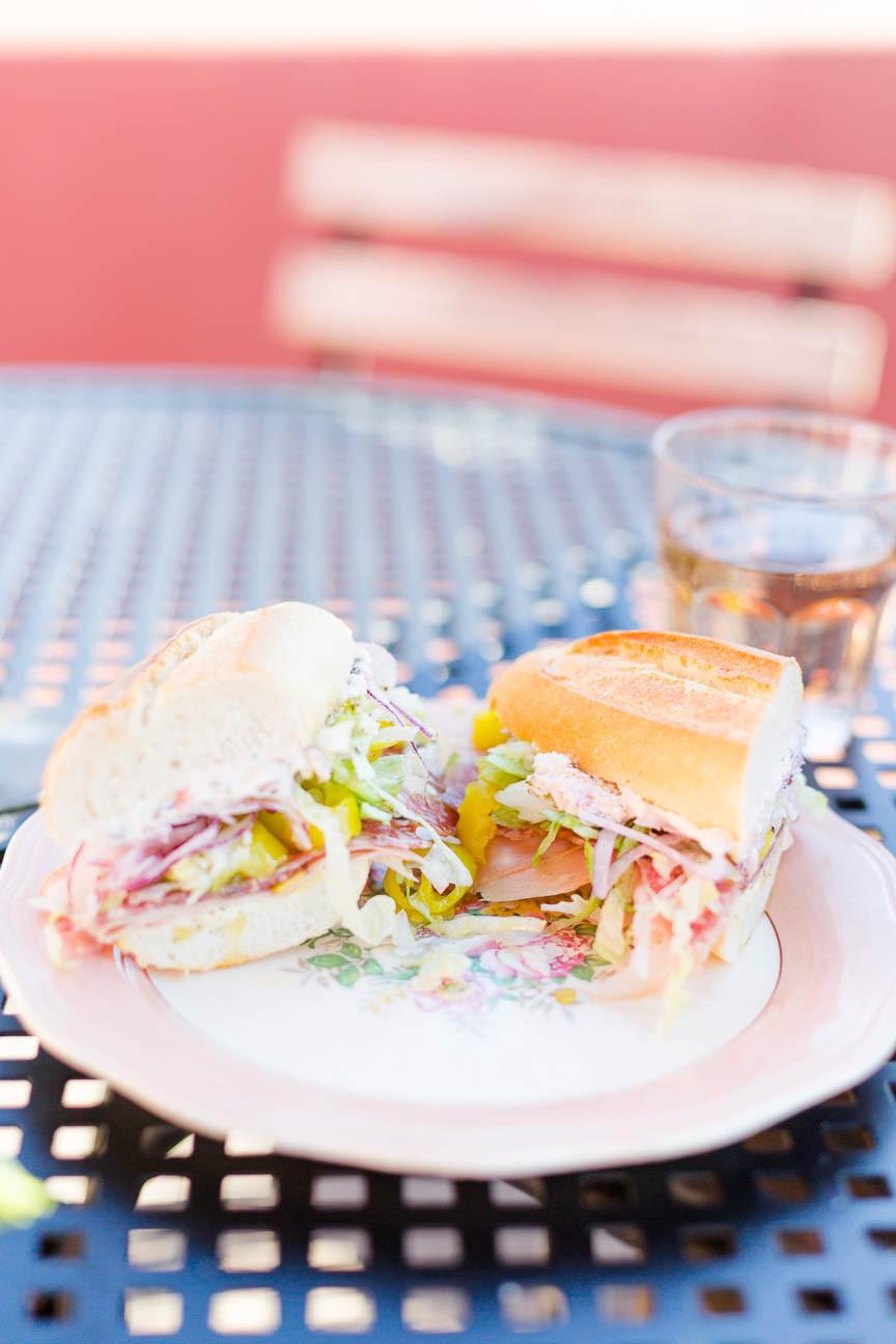 Italian sandwhich at a New Orleans restauraunt