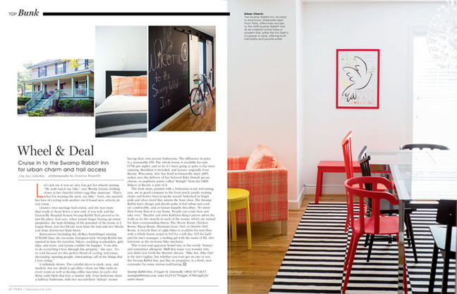 Article-about-the-Greenville-SC-Swamp-Rabbit-Inn-in-town-magazine