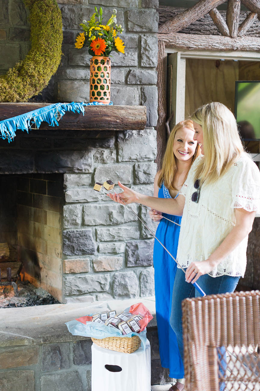 image of girls roasting marshmallows