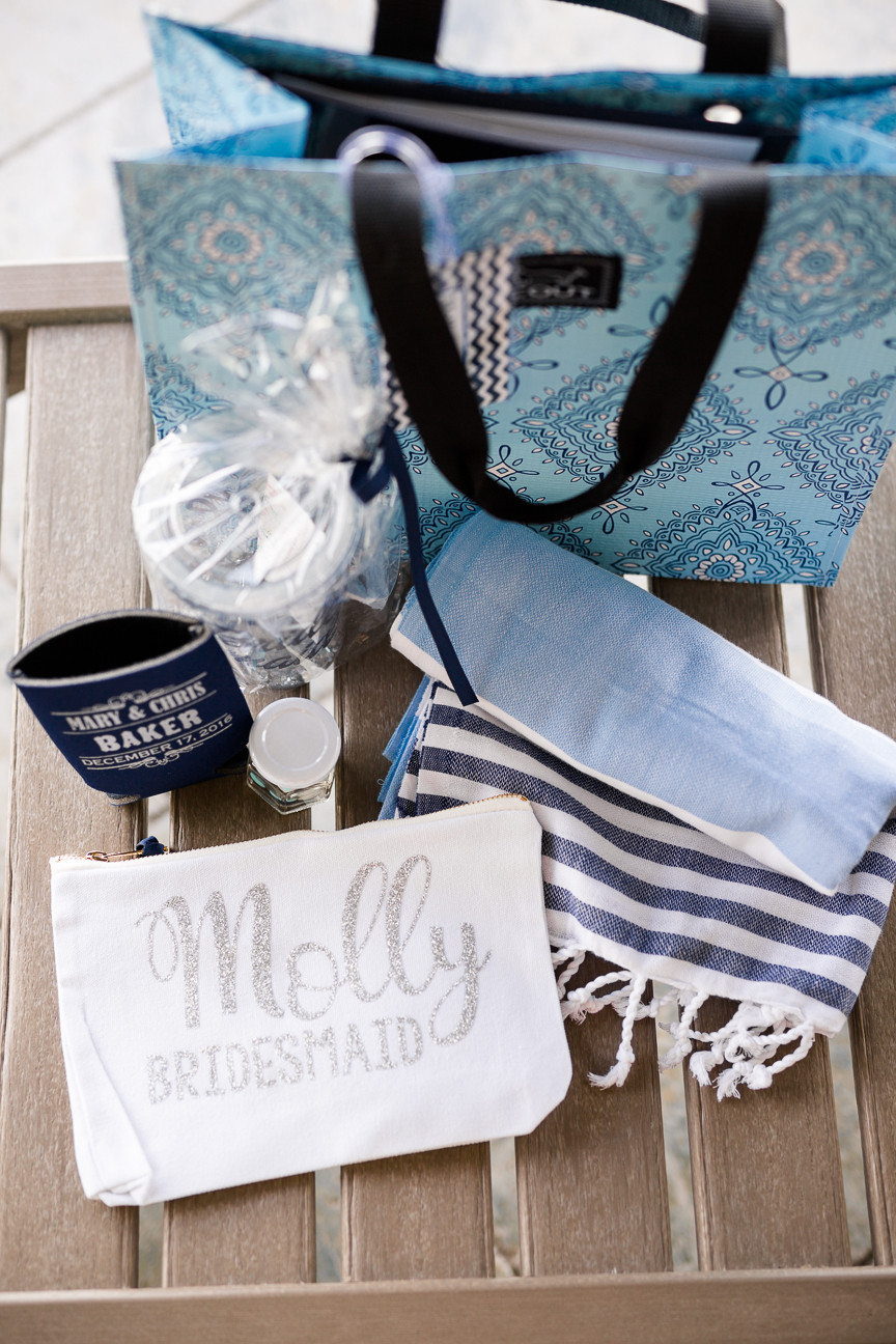 destination wedding welcome bags, Scout bag, Turkish T towel, southern weddings, wedding photography, detail shot