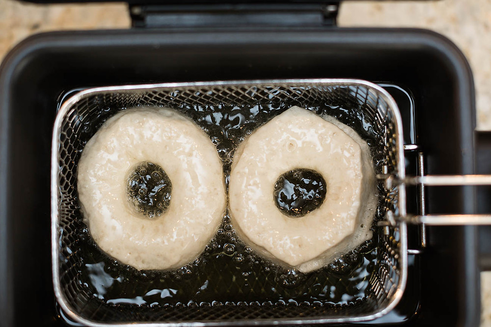 donuts being fried