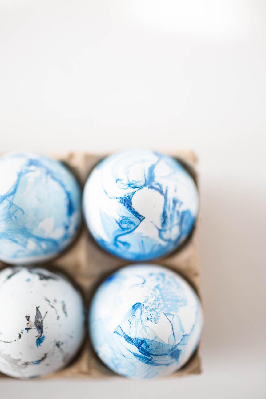 marble dyed easter eggs in carton, DIY, Greenville SC photography