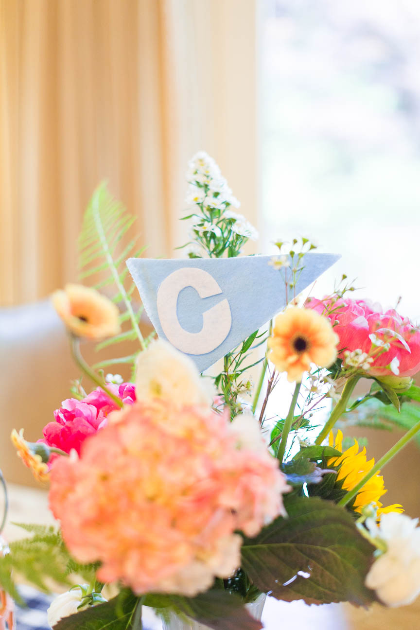 image of C flag in flowers