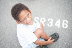 Portrait of a Happy Little Boy Image