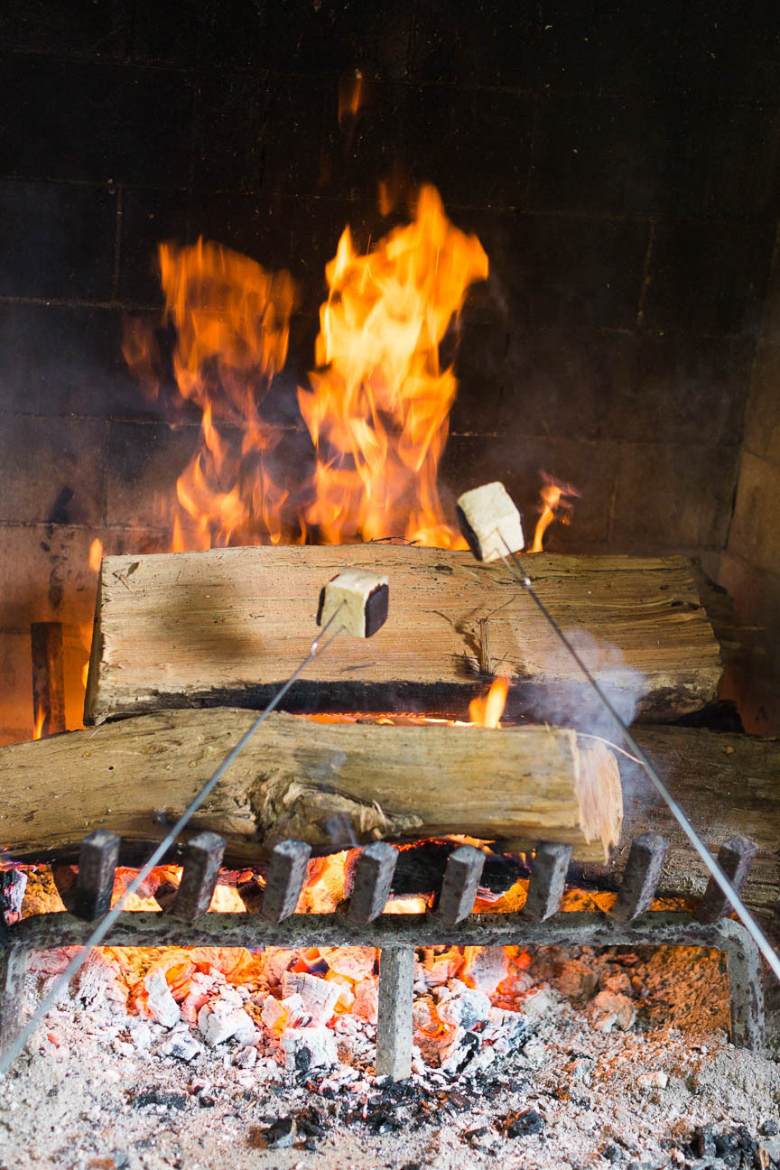 image of marshmallows roasting in fire