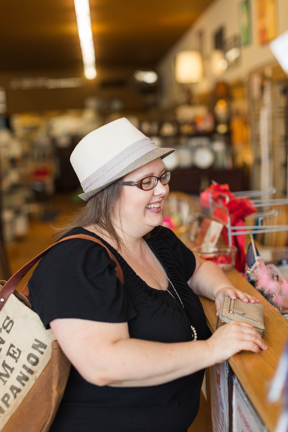 purchasing home goods at Greenville thrift store