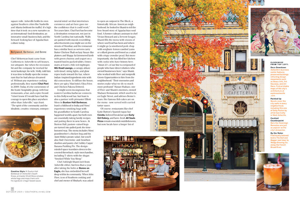 Southern Living Asheville, NC Article