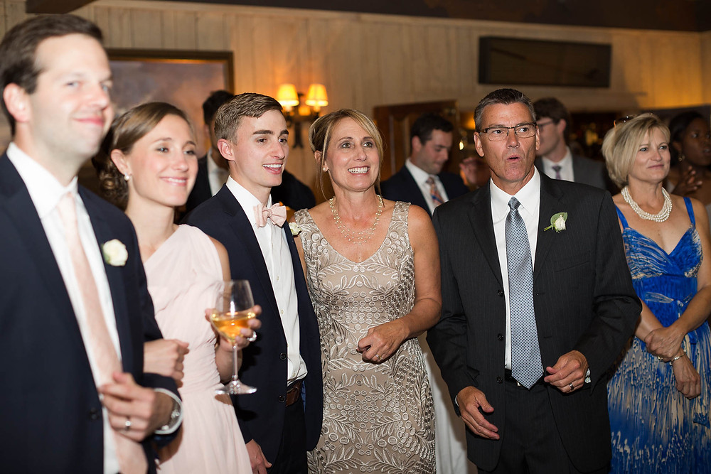 guests watch father daughter dance