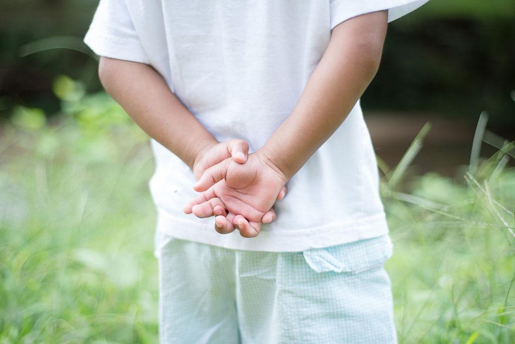 Portrait of Little Boys Hands Image