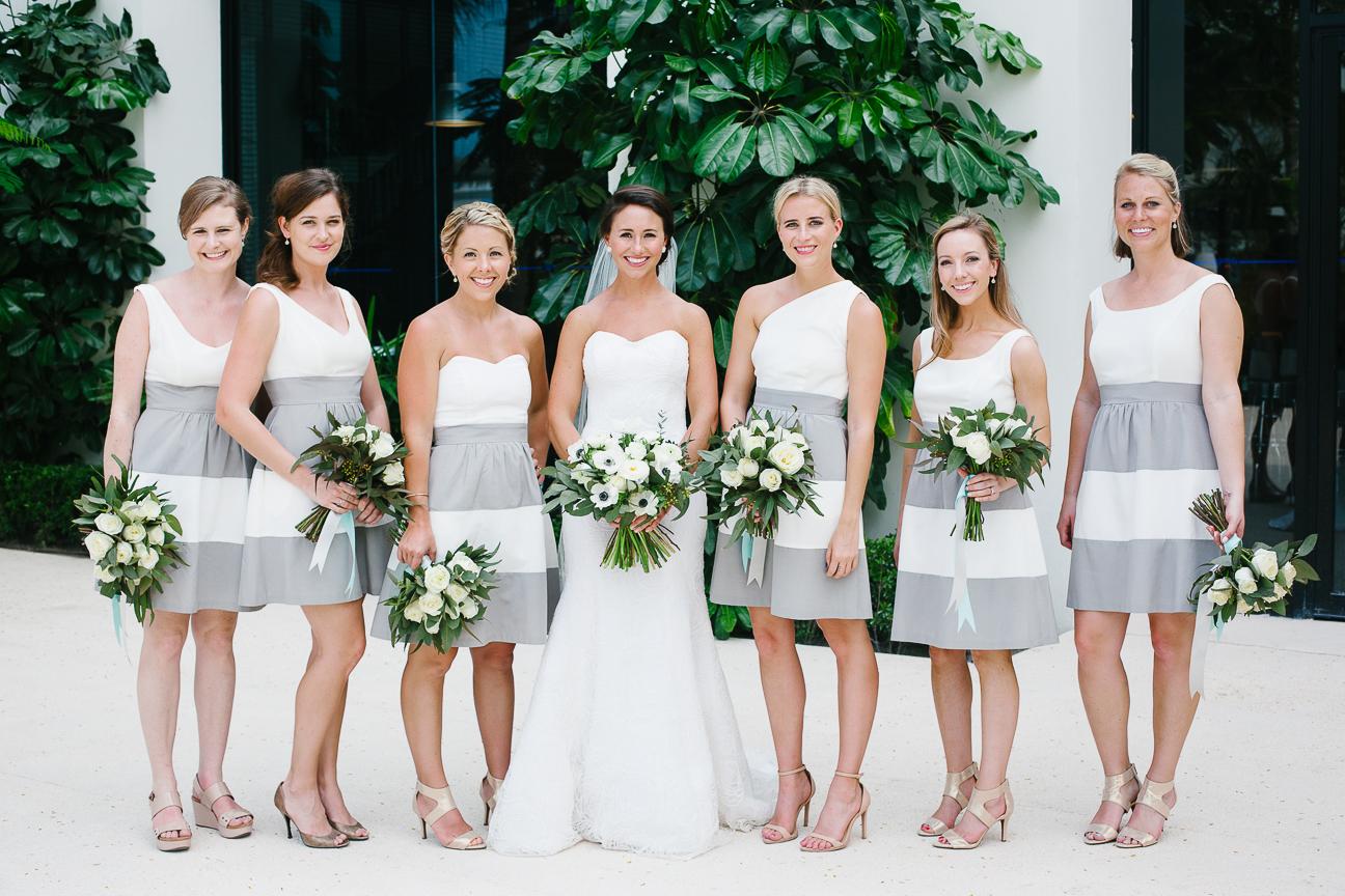 Bridesmaids in stripes