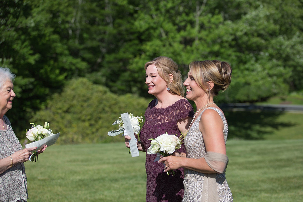 mothers of the bride and groom await the ceremony, Grandfather mountain wedding
