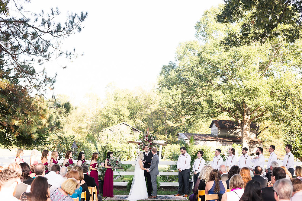 wedding ceremony in Raleigh, NC