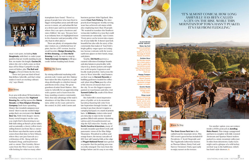 Fall in Asheville, NC for editorial article