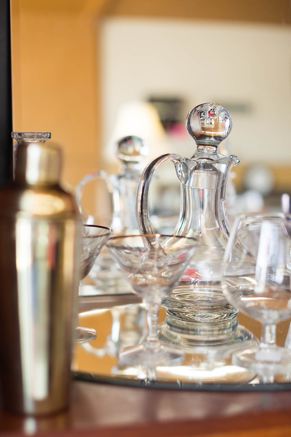 vintage decanters at Greenville thrift store