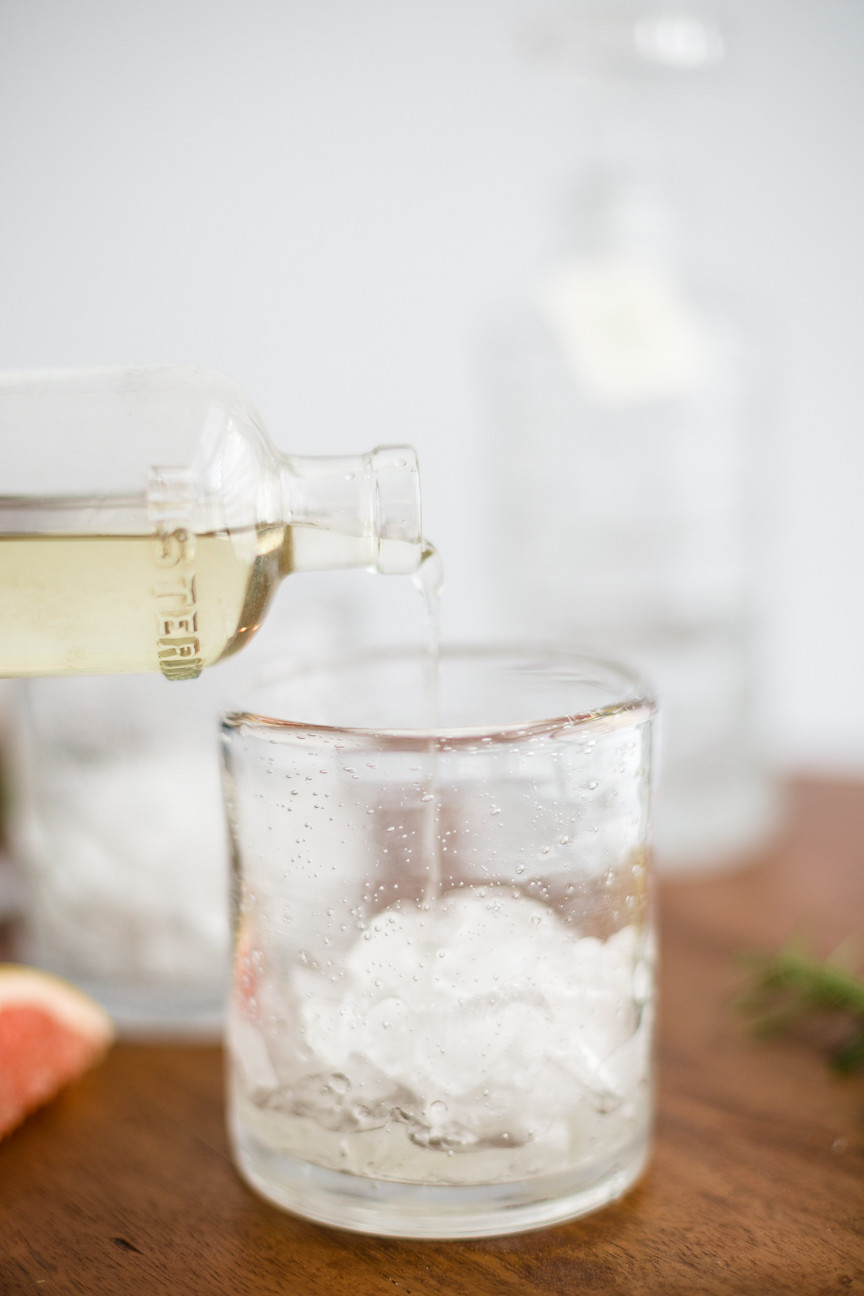 cocktails, elderflower cocktail, St. Germain, food photography, citrus