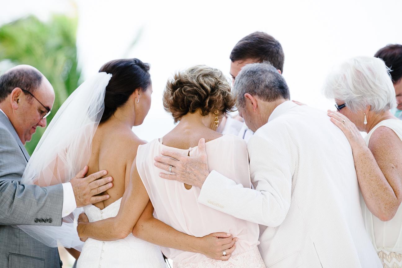 Parents pray for couple