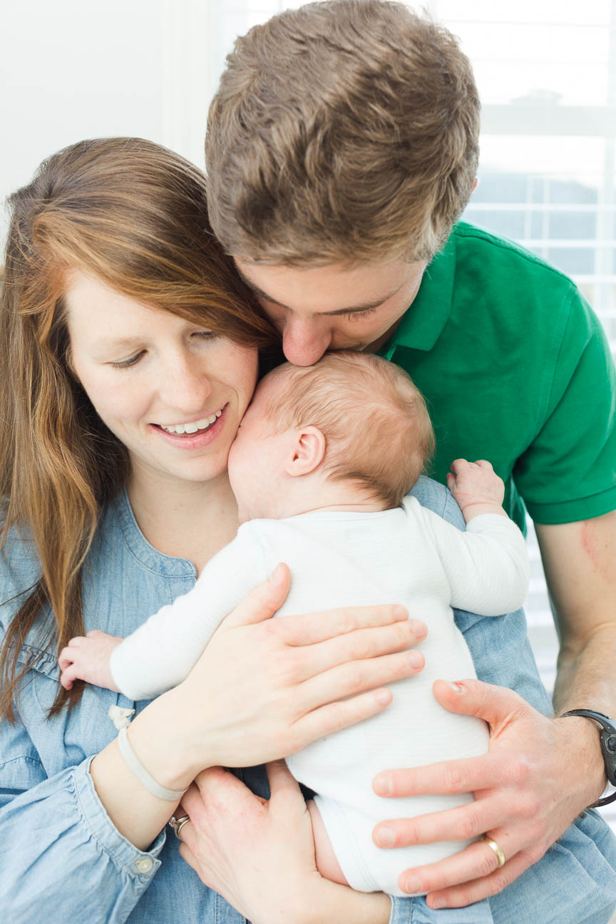 new parents with baby son
