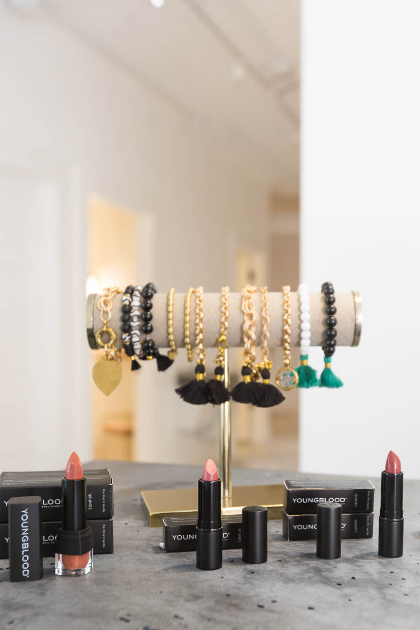 lipstick and jewelry for sale at The Beautiful Co.