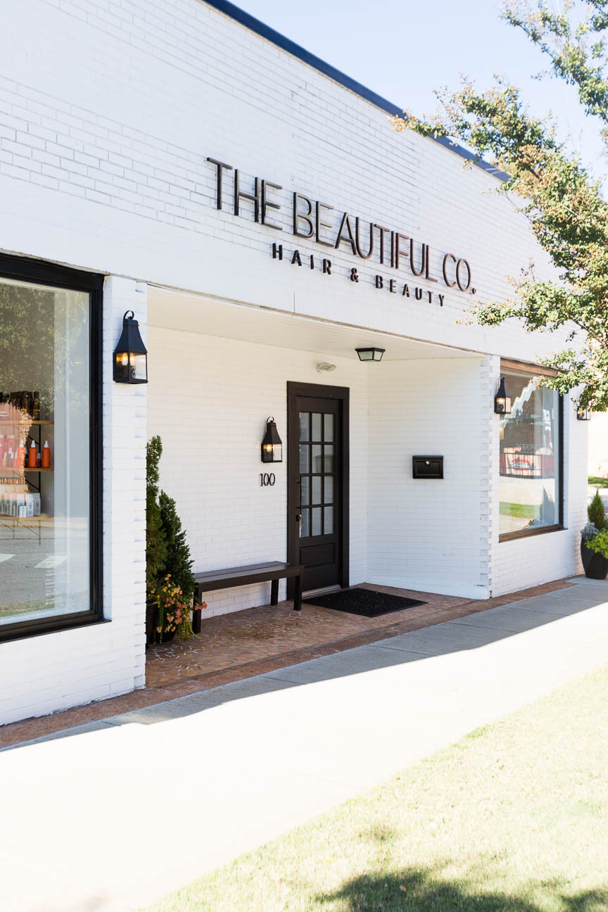 exterior of beauty salon in Greenville, The Beautiful Co.
