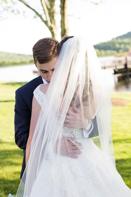 Owen hugs his new wife