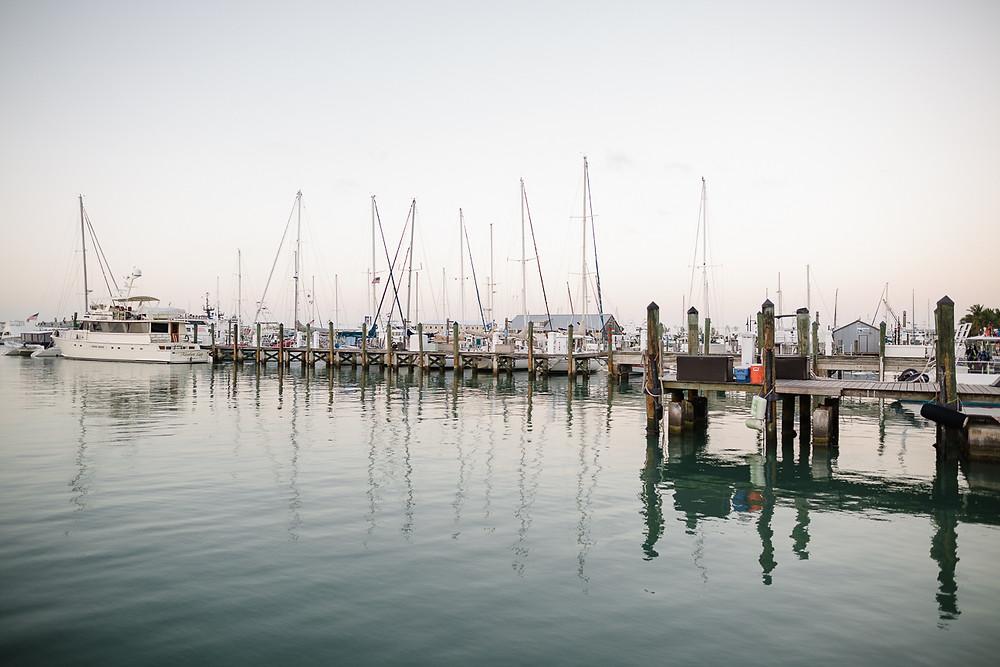 Marina at sunset, Key West, FL