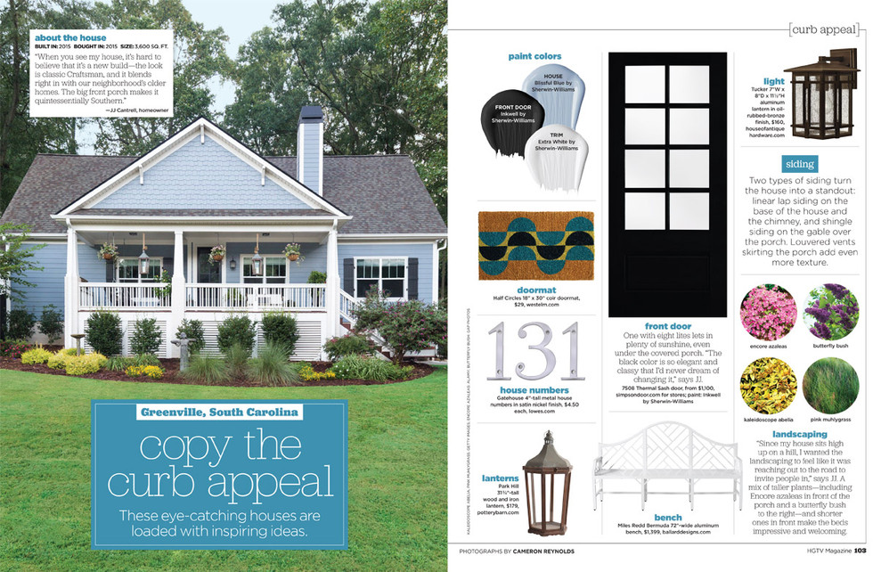 Editorial image of Greenville, SC home