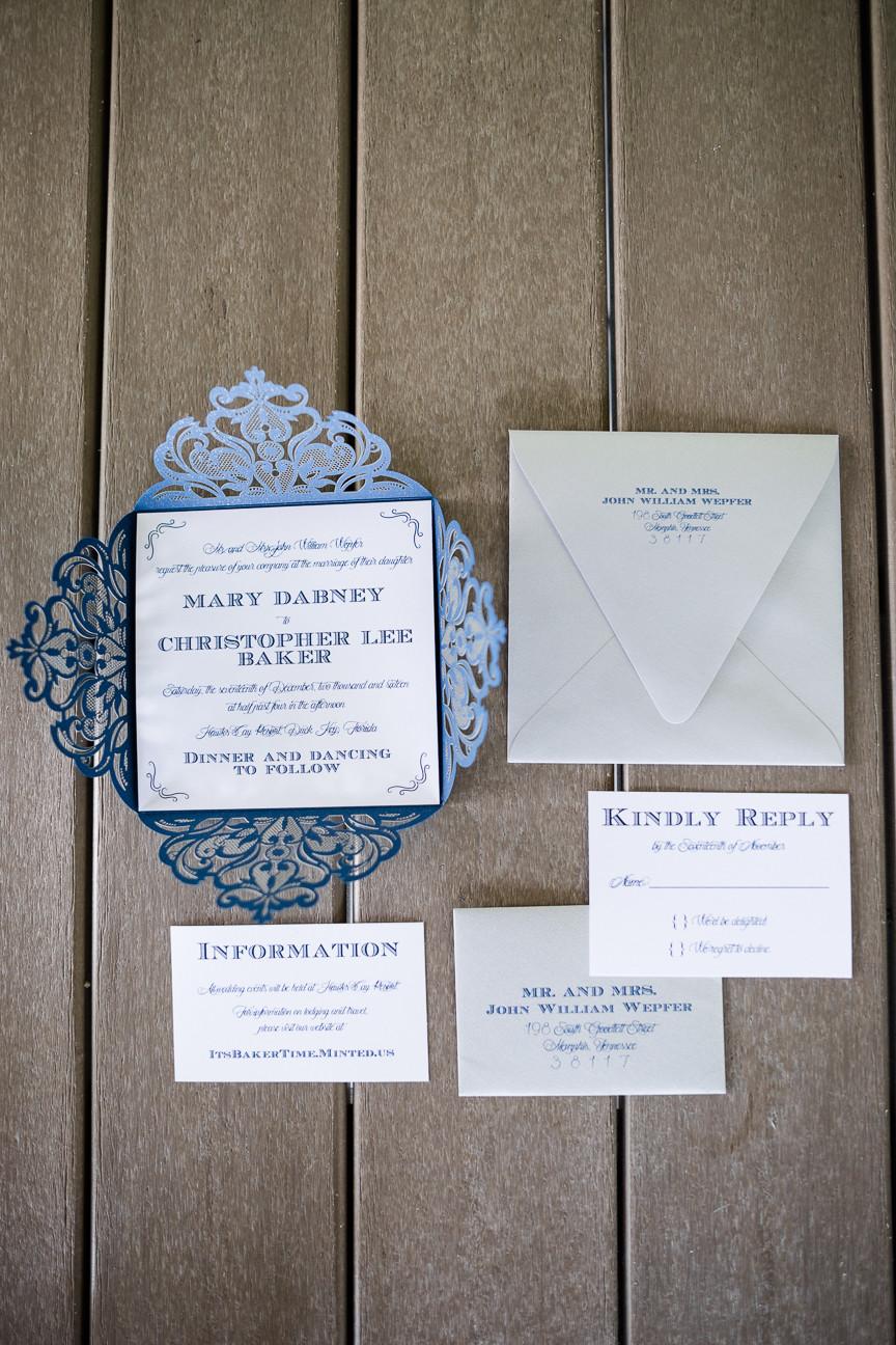 navy die cut invitation suite, paper, stationery, wedding invitations, destination wedding