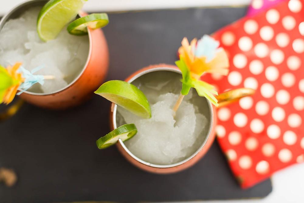 moscow mule, frozen drink, Cinco de Mayo cocktail, DIY