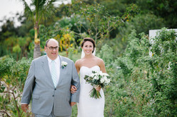 Bride and Father walk down ailse