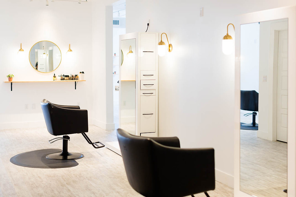 interior of The Beautiful Co, styling chairs, modern interior design