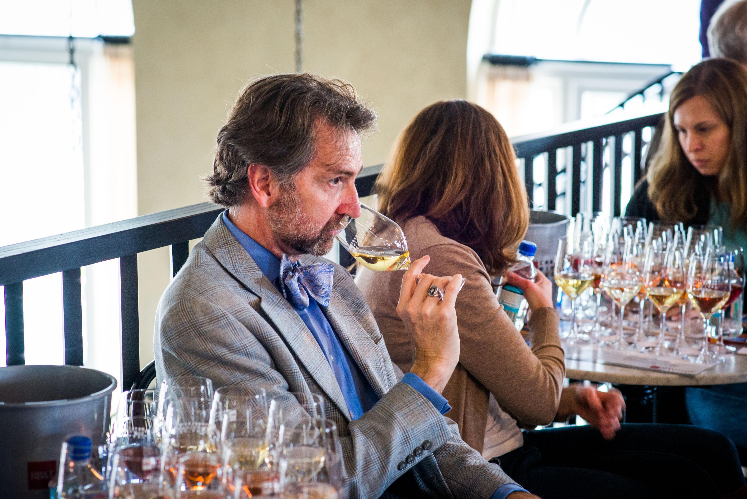 Guest Tastes Wine Image