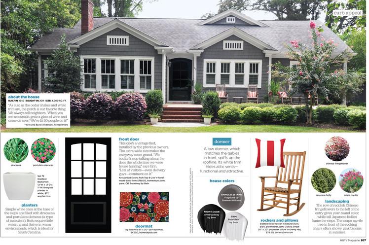 Greenville home in HGTV magazine