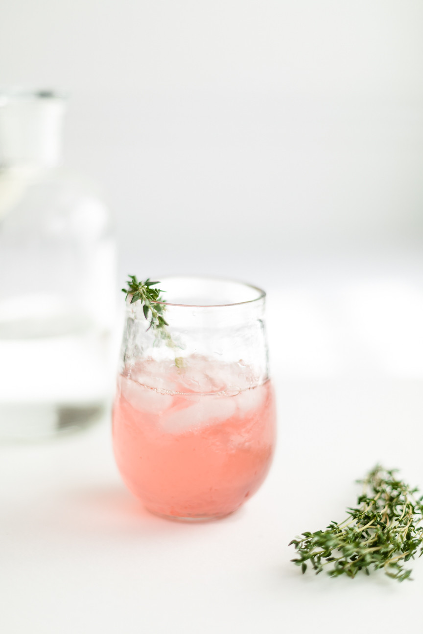 Blood Orange cocktail with thyme, beverage, food photography, food styling