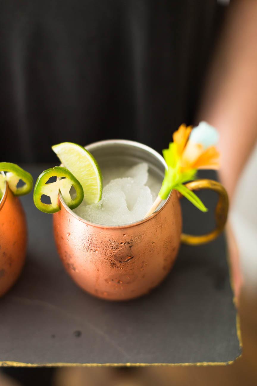 Mexican mule, frozen drink, Cinco de Mayo cocktail, DIY