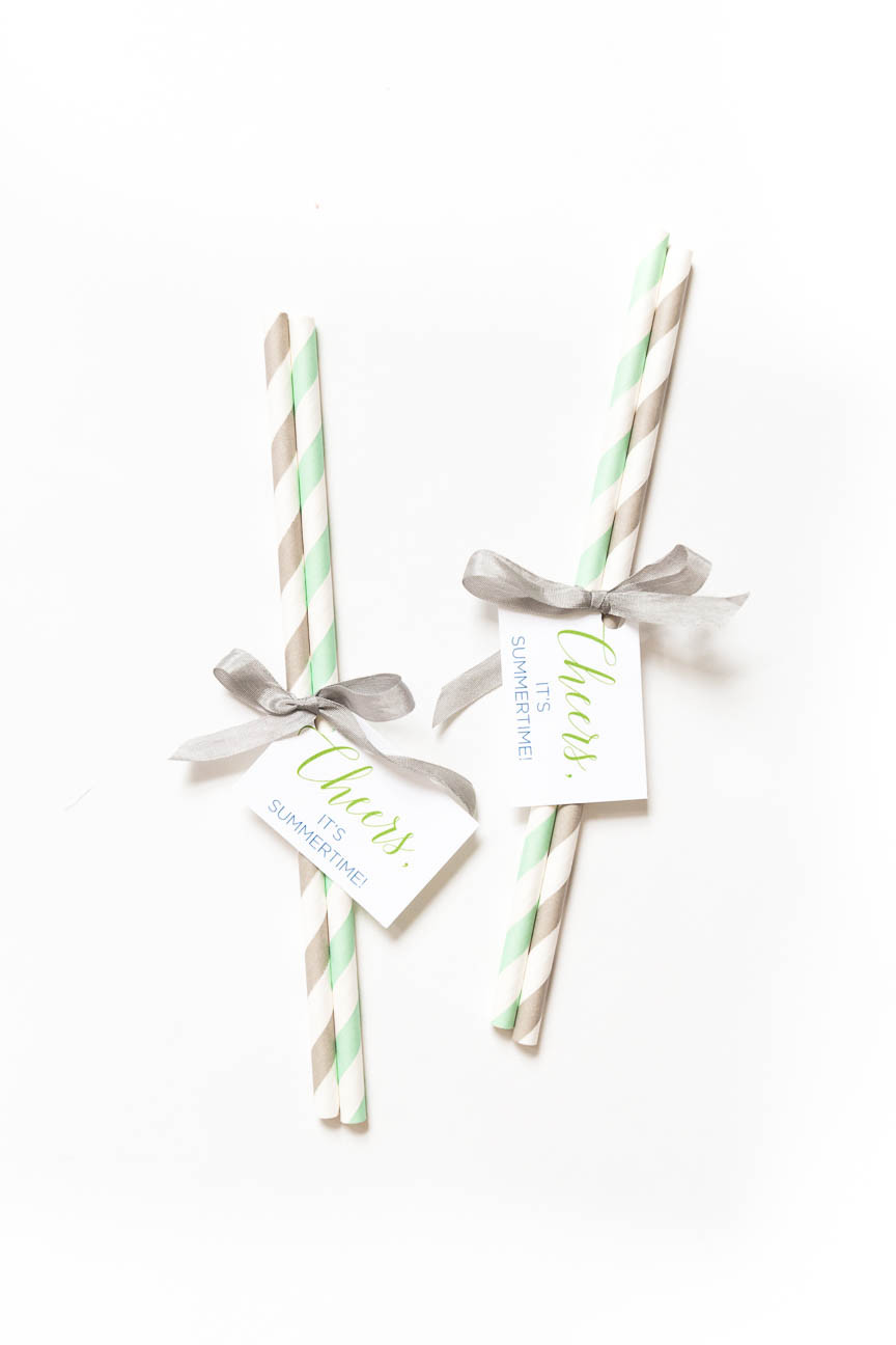 image of paper straws for promotional mailer