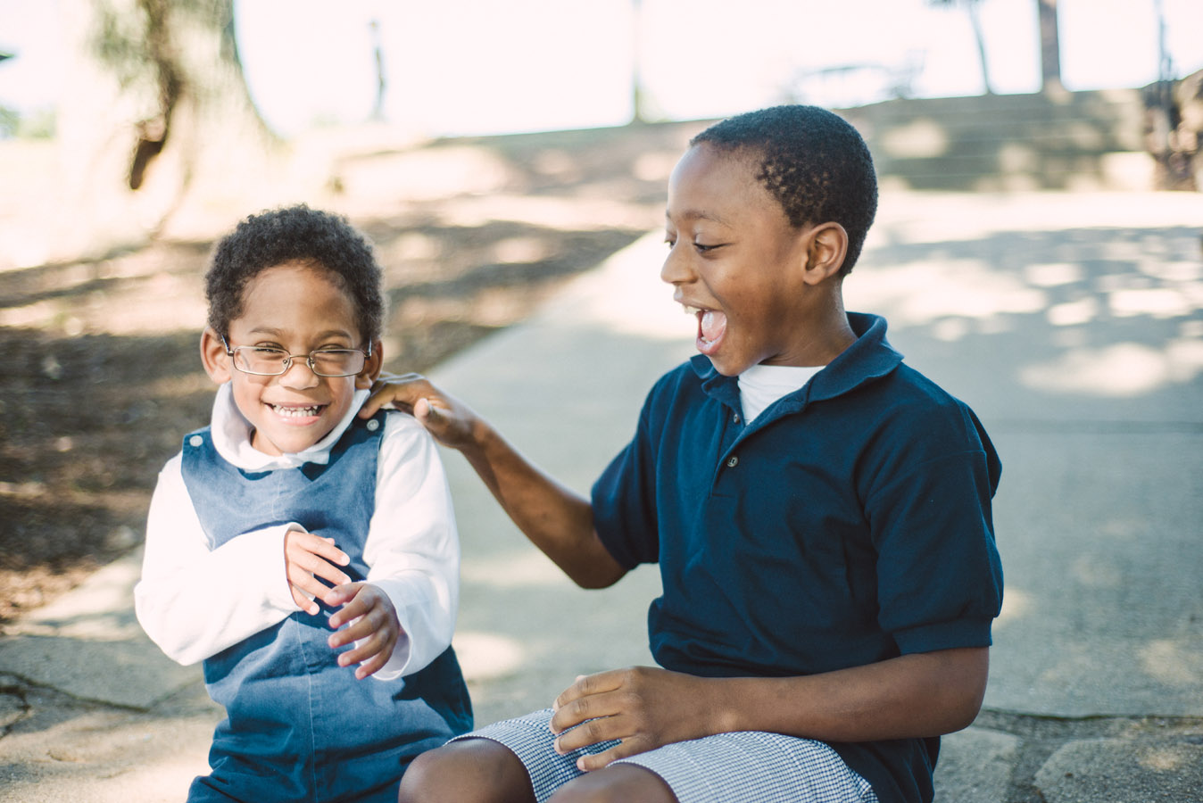 Brothers Laughing Together Image
