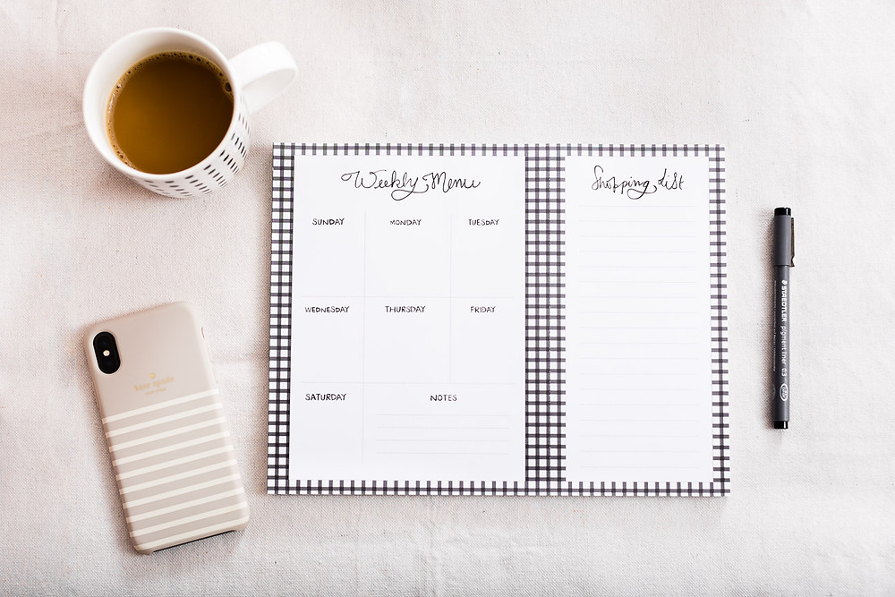 image of a weekly meal planner, Miss Wyolene