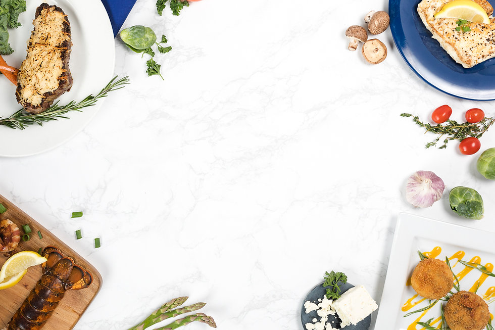 image of food on marble counter