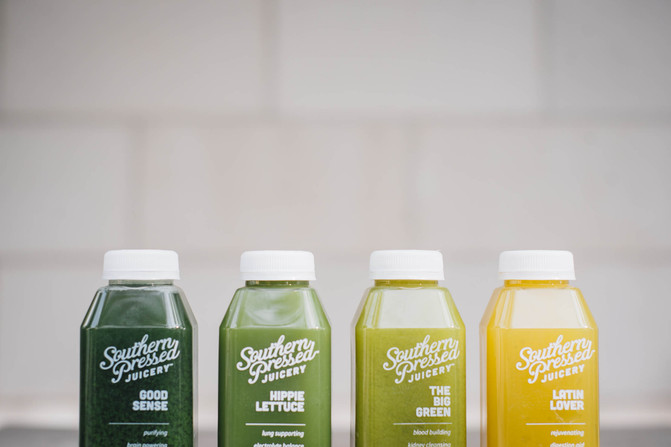 green-juices-at-Southern-Pressed-juicery