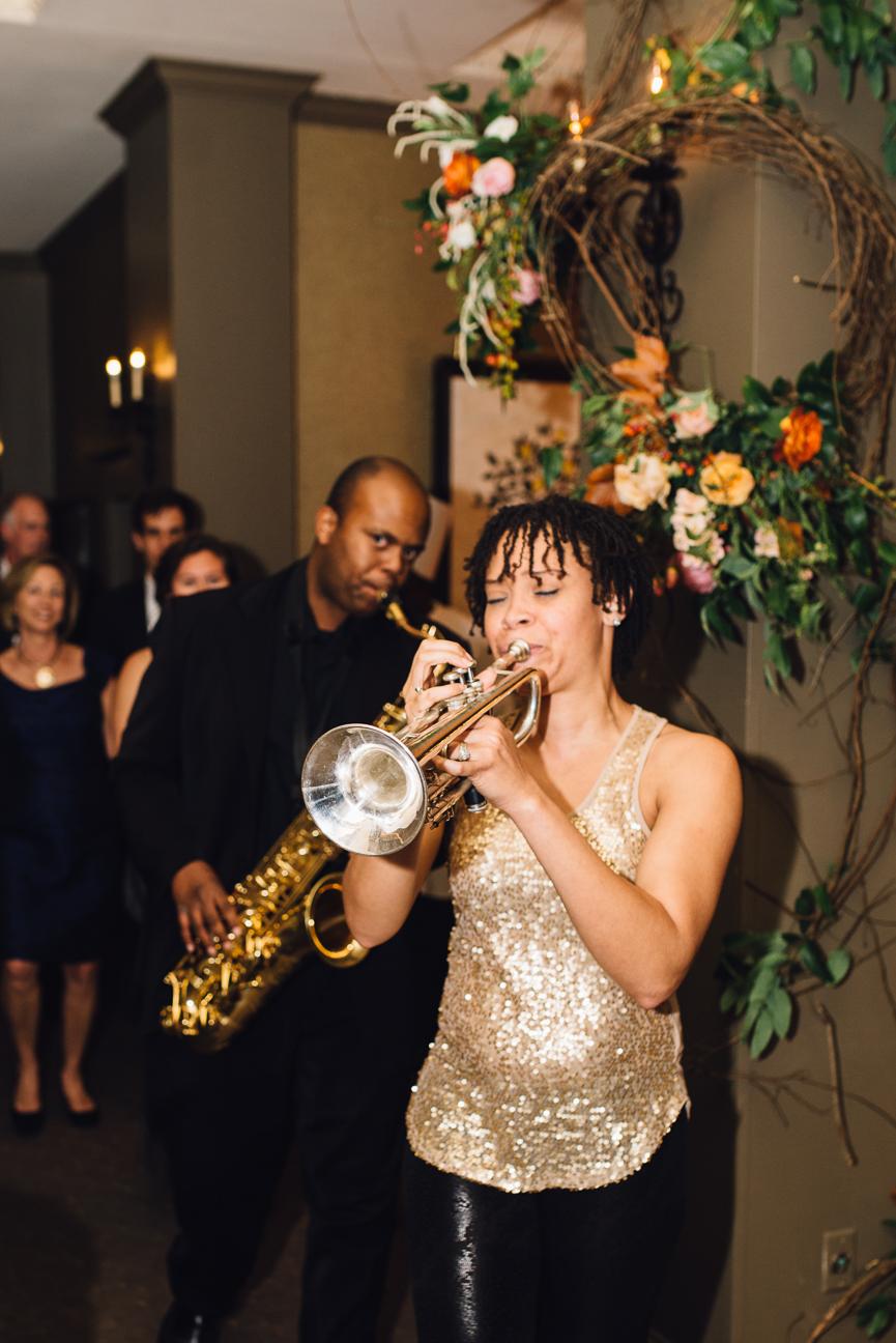 Trumpet player at TN Wedding