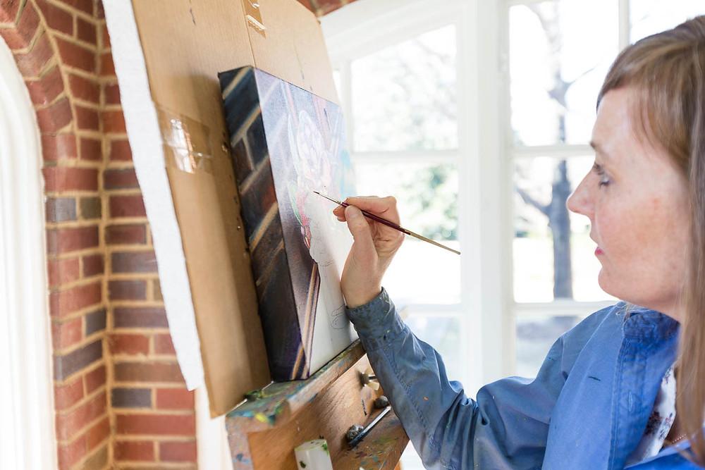 Marie Scott painting, Greenville SC artist